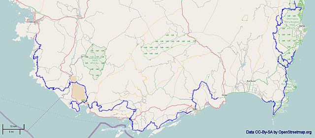 Map of Lycian Way